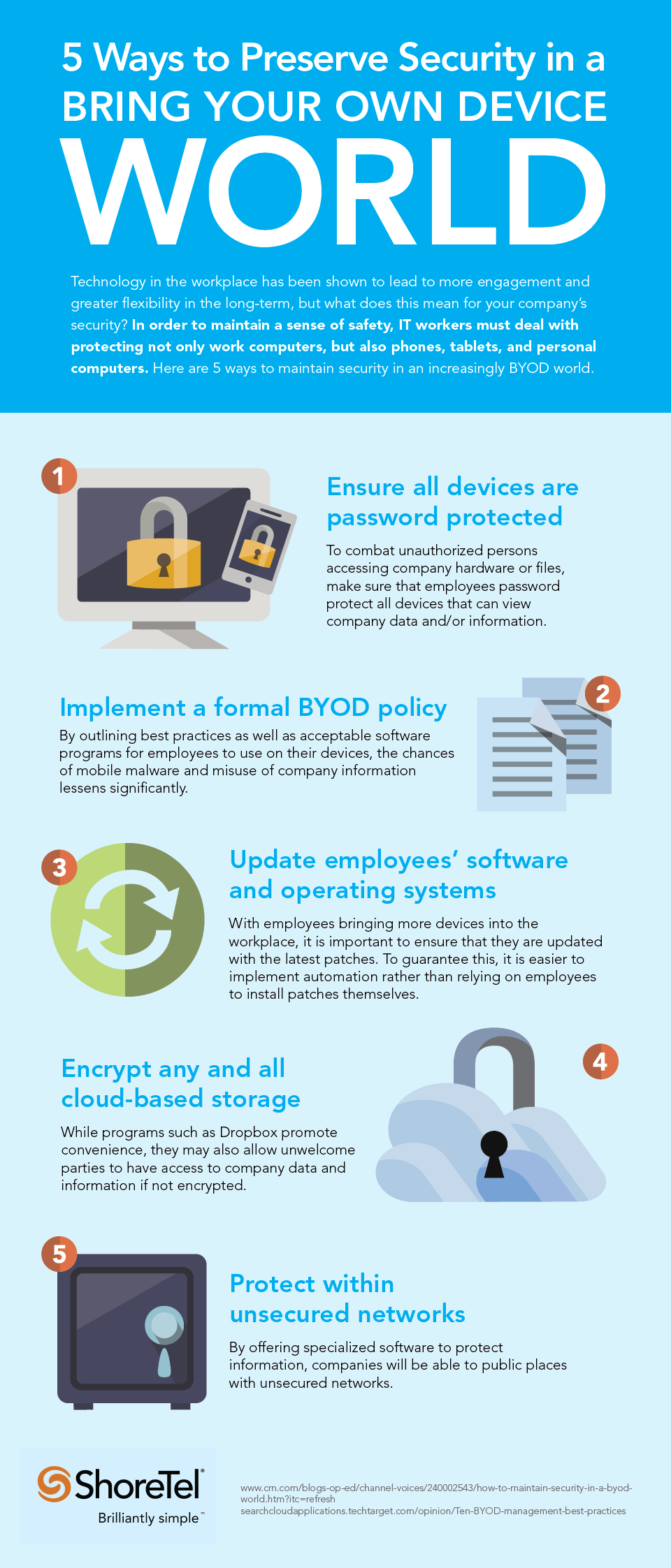 preserve security in BYOD