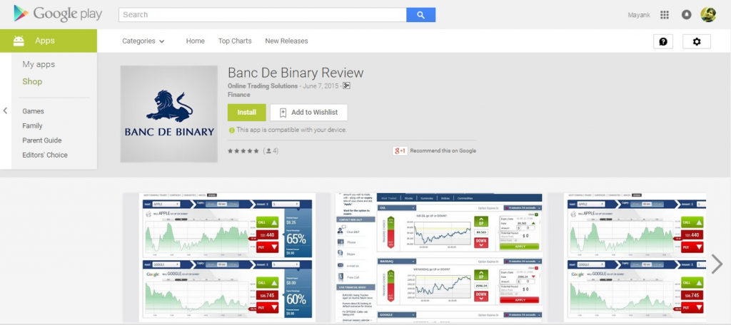 Google play binary options