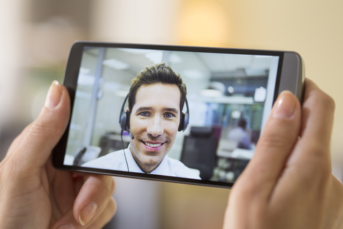 Virtual Communication In The Palm Of Your Hand