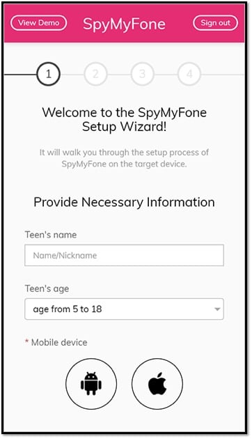 spymyfone wizard