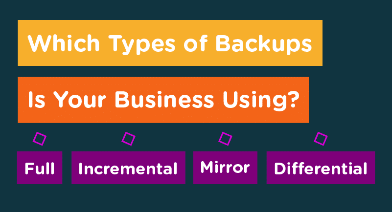 3 Main Types of Data Backups For Your Business