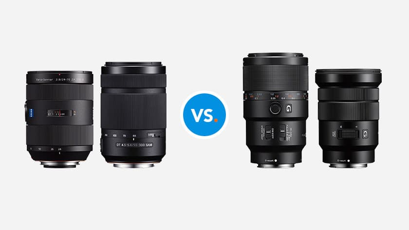 What Are The Main Differences Between The Sony E-Mount And A-Mount Lenses?