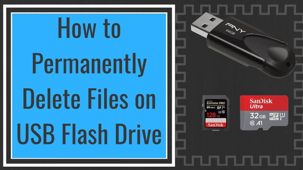 How to Permanently Erase Data from USB Flash Drive?